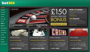 Bet365 Casino Home Page Screen shot